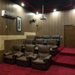 cinema seats in farm house
