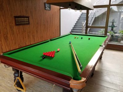 snooker in farm house