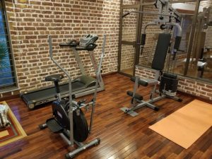 gym space in farm house