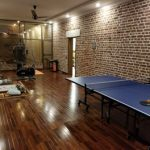 ping pong in farm house